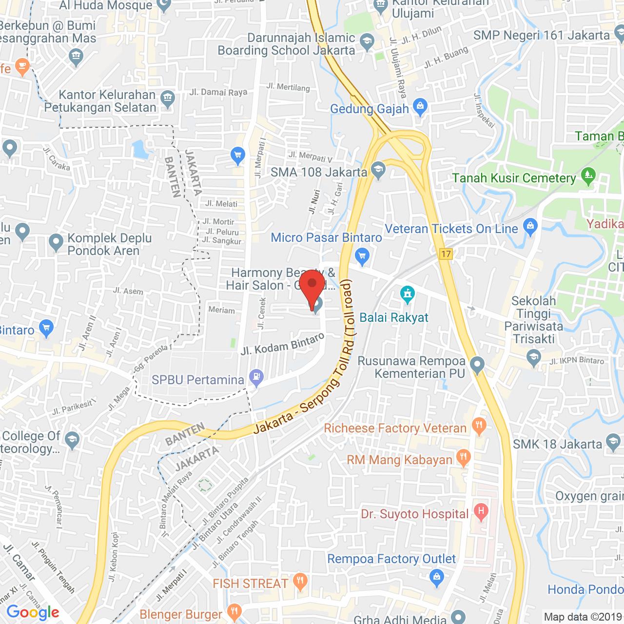 Bintaro Park View Map