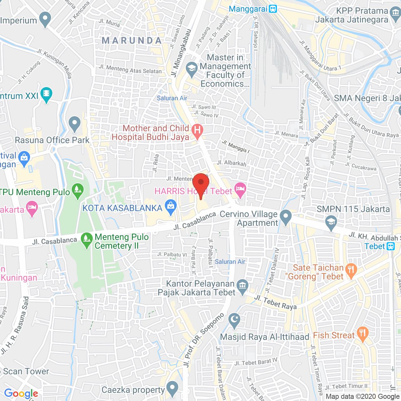 Casablanca Apartment Map