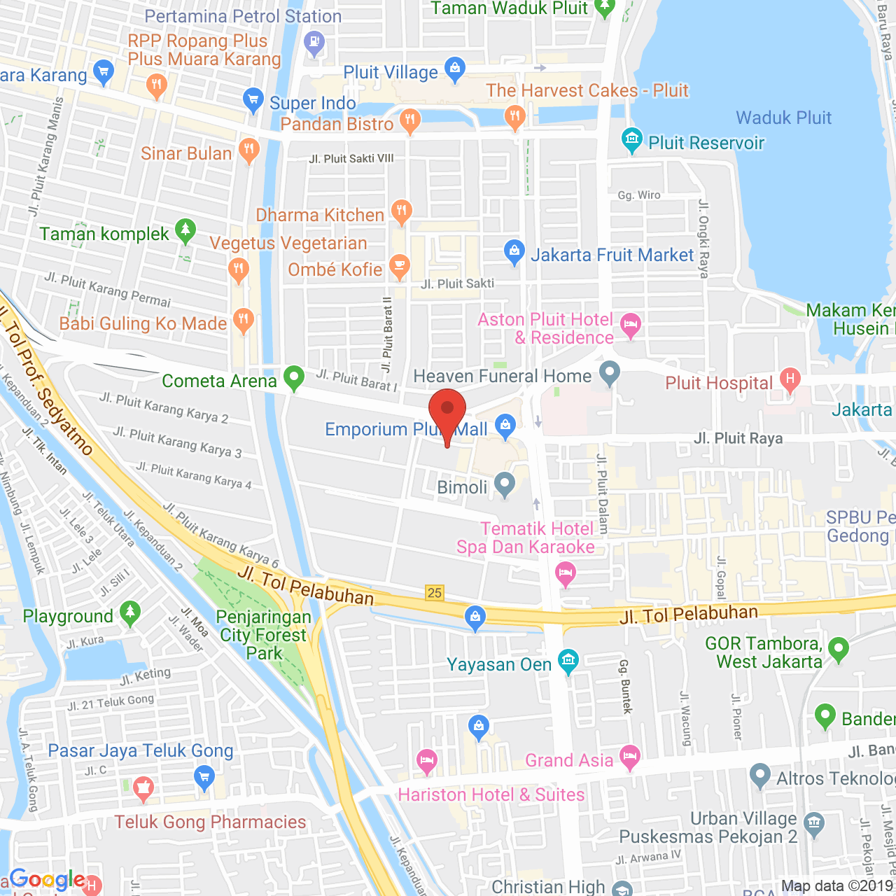 CBD Pluit Apartment Map