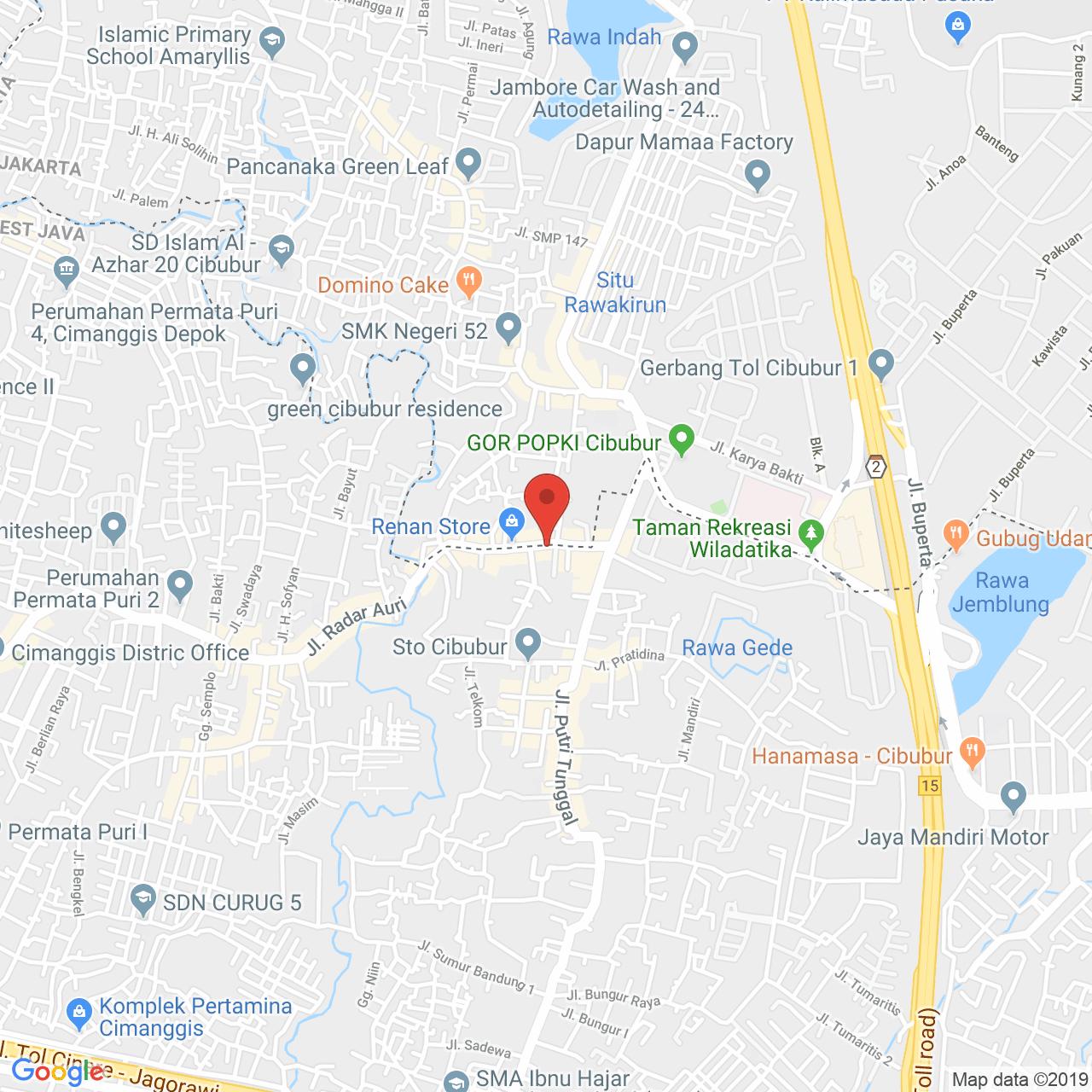 Cibubur Village Apartment Map