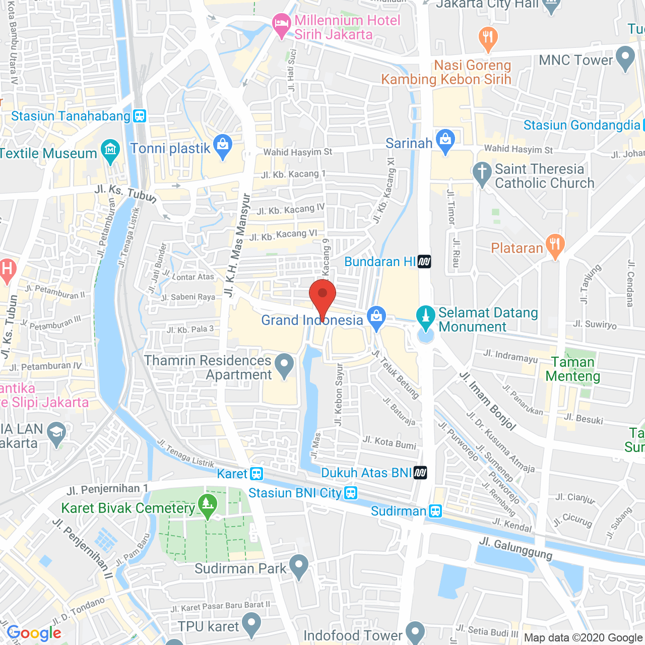 Cosmo Mansion - Thamrin City Map