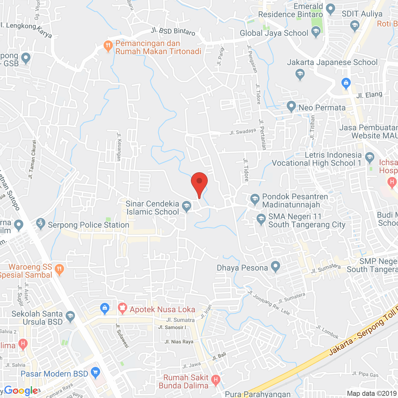 Easton Park Serpong Apartment Map