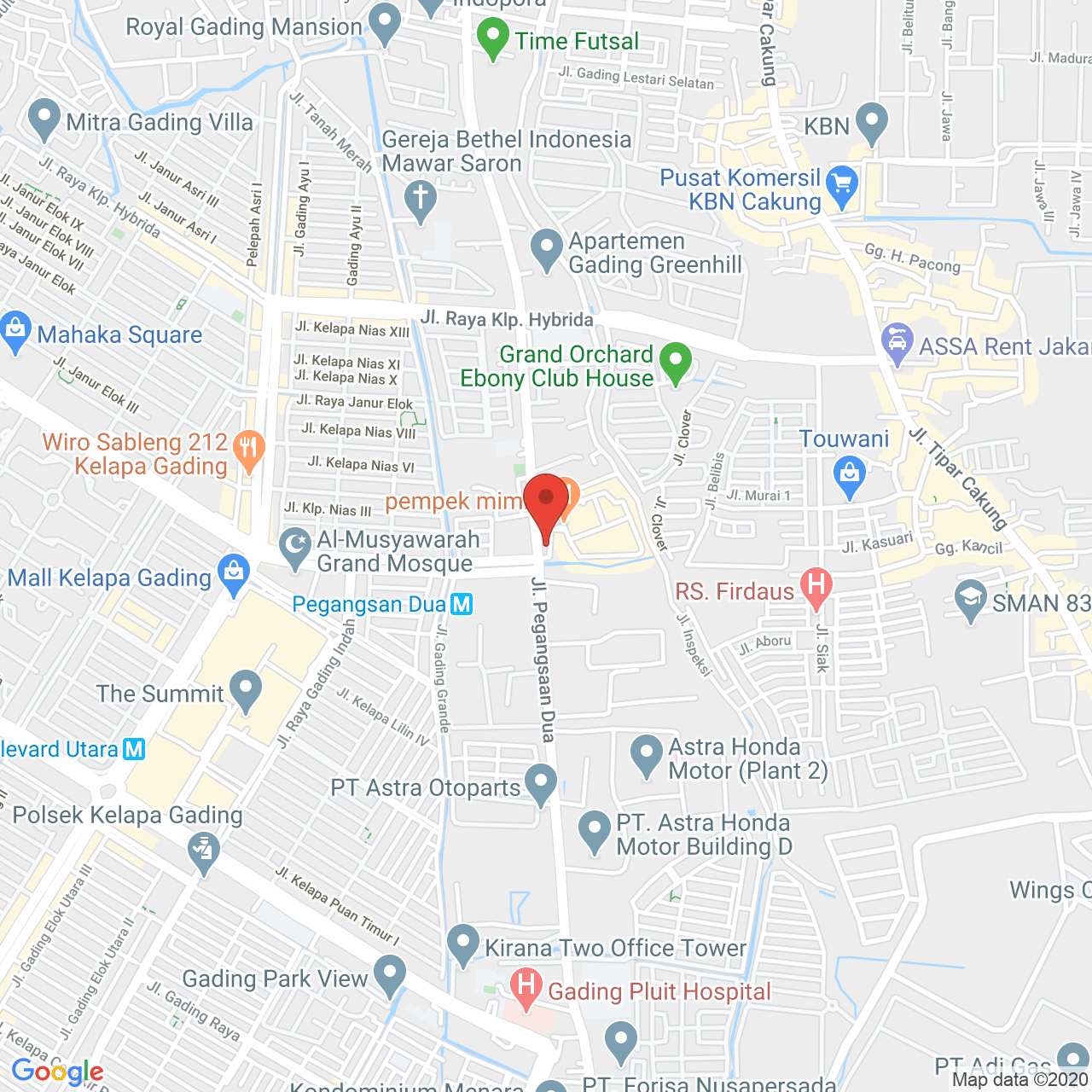Gading Nias Apartment Map