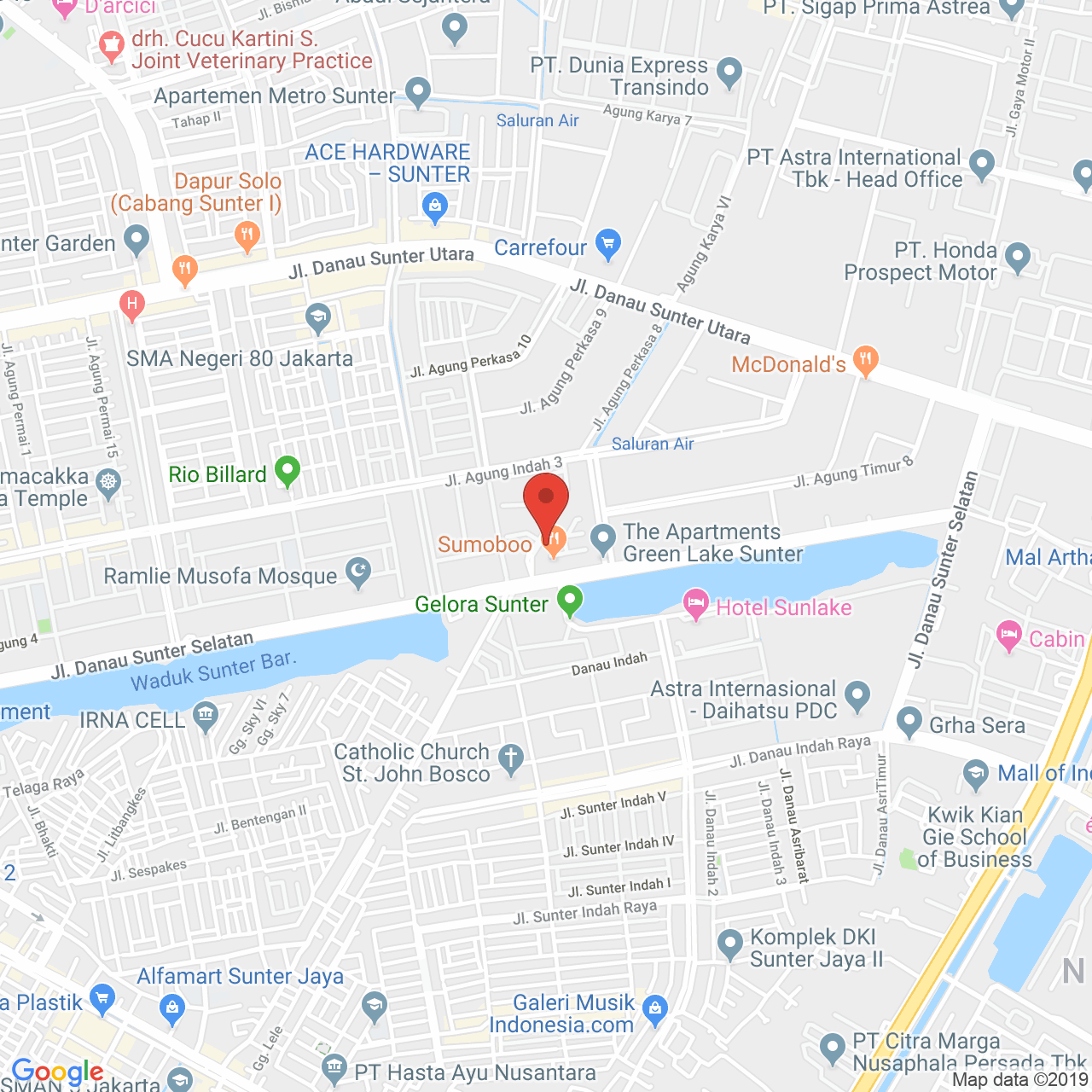 Green Lake Sunter Apartment Map
