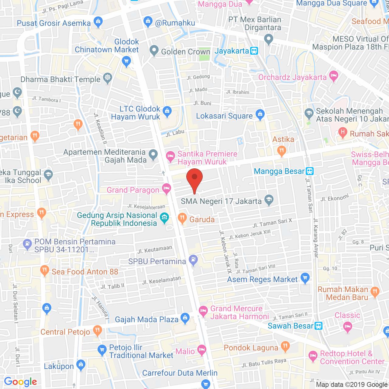 Hayam Wuruk Apartment Map
