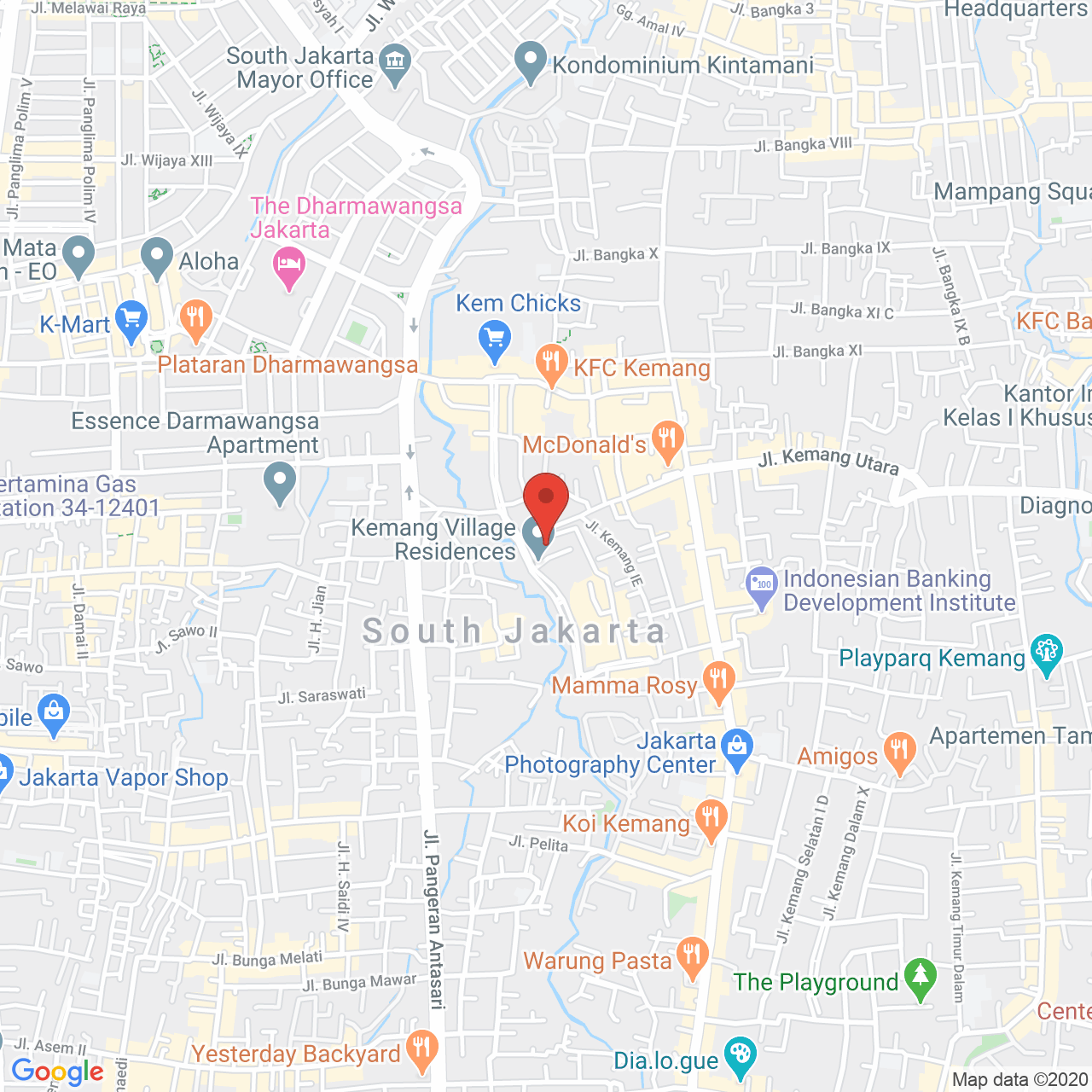 Kemang Village Apartment Map