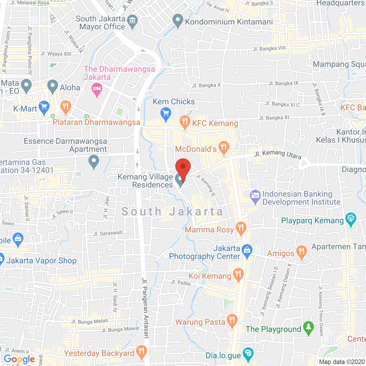 Kemang Village Apartment Map