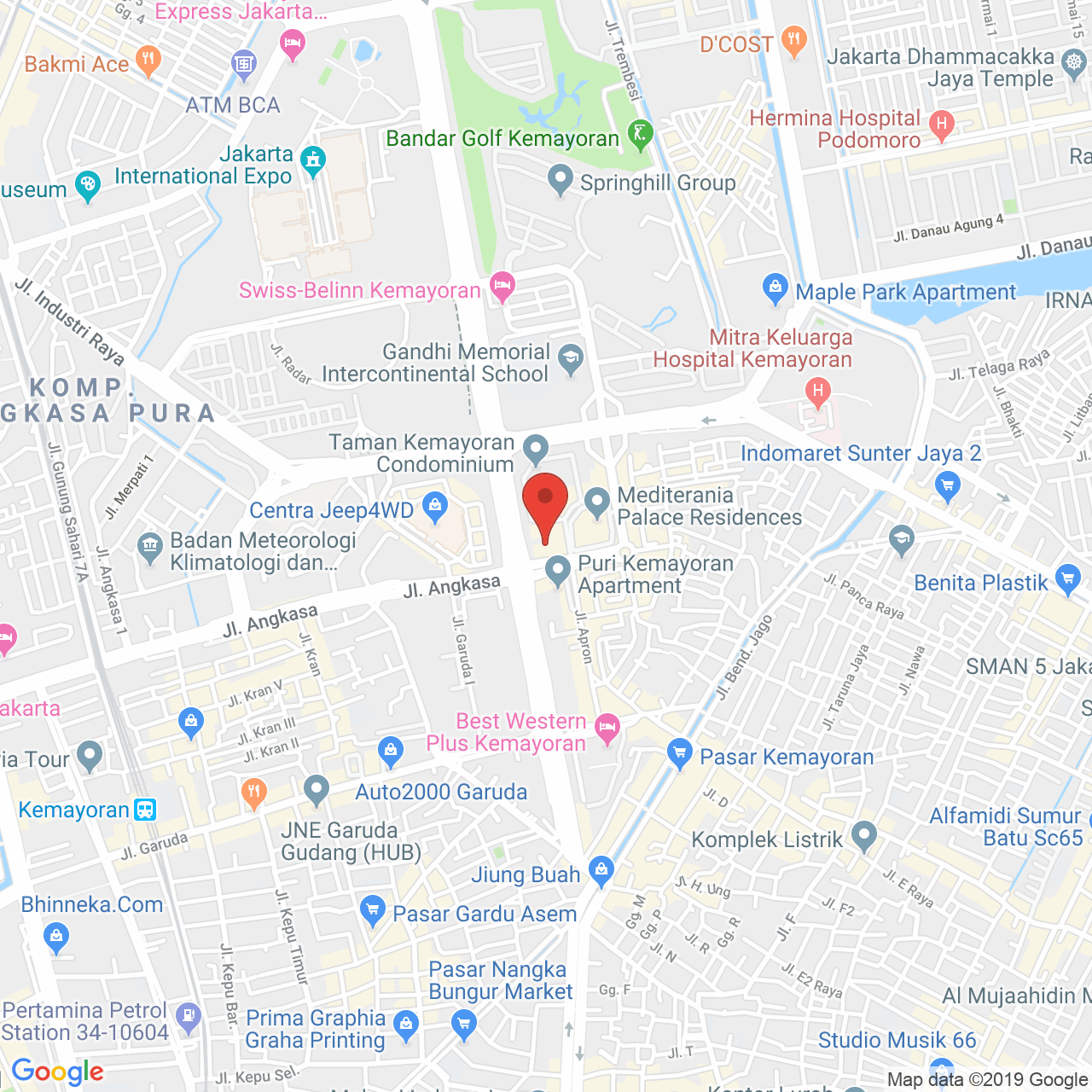 Mediterania Boulevard Kemayoran Map