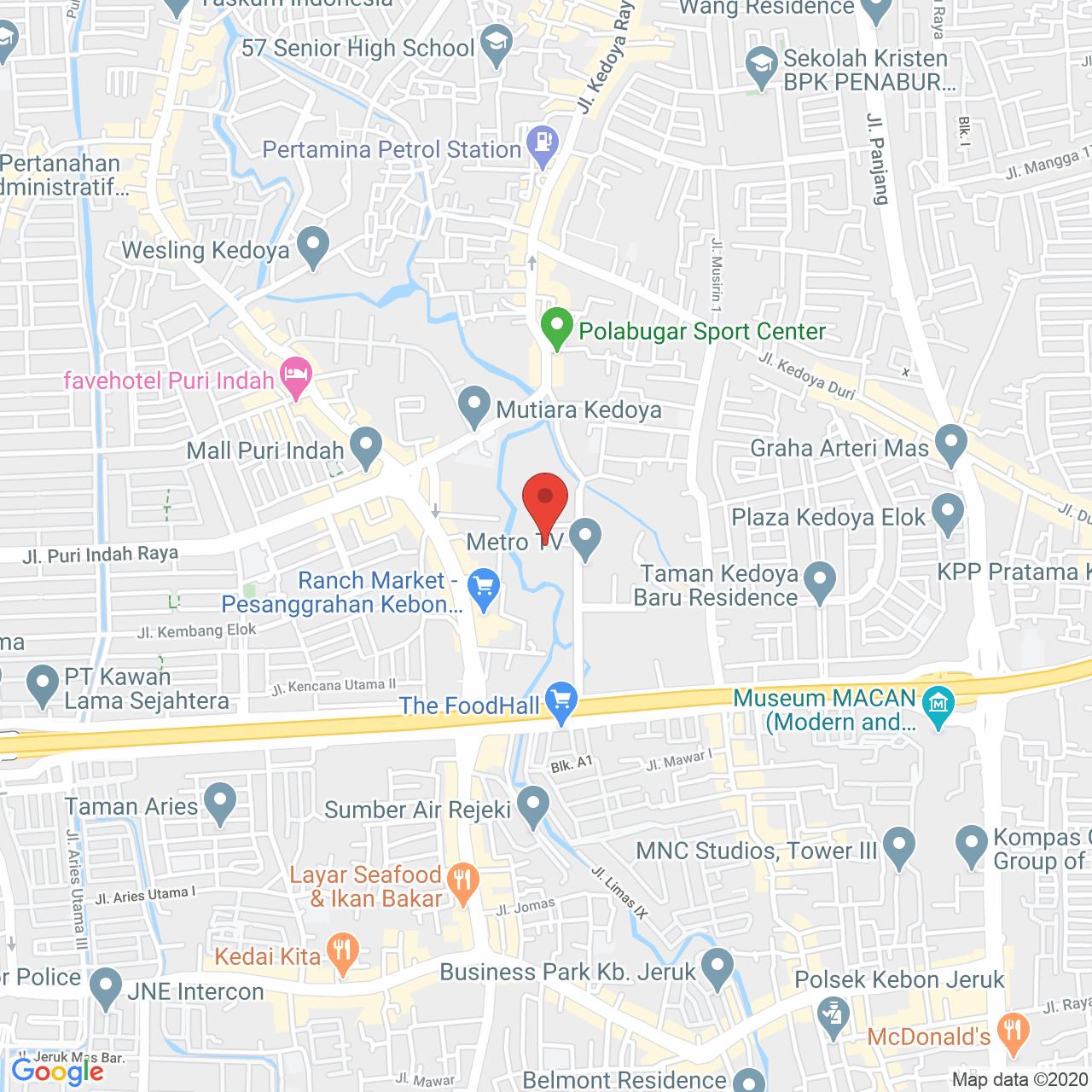 Metro Park Residence Map