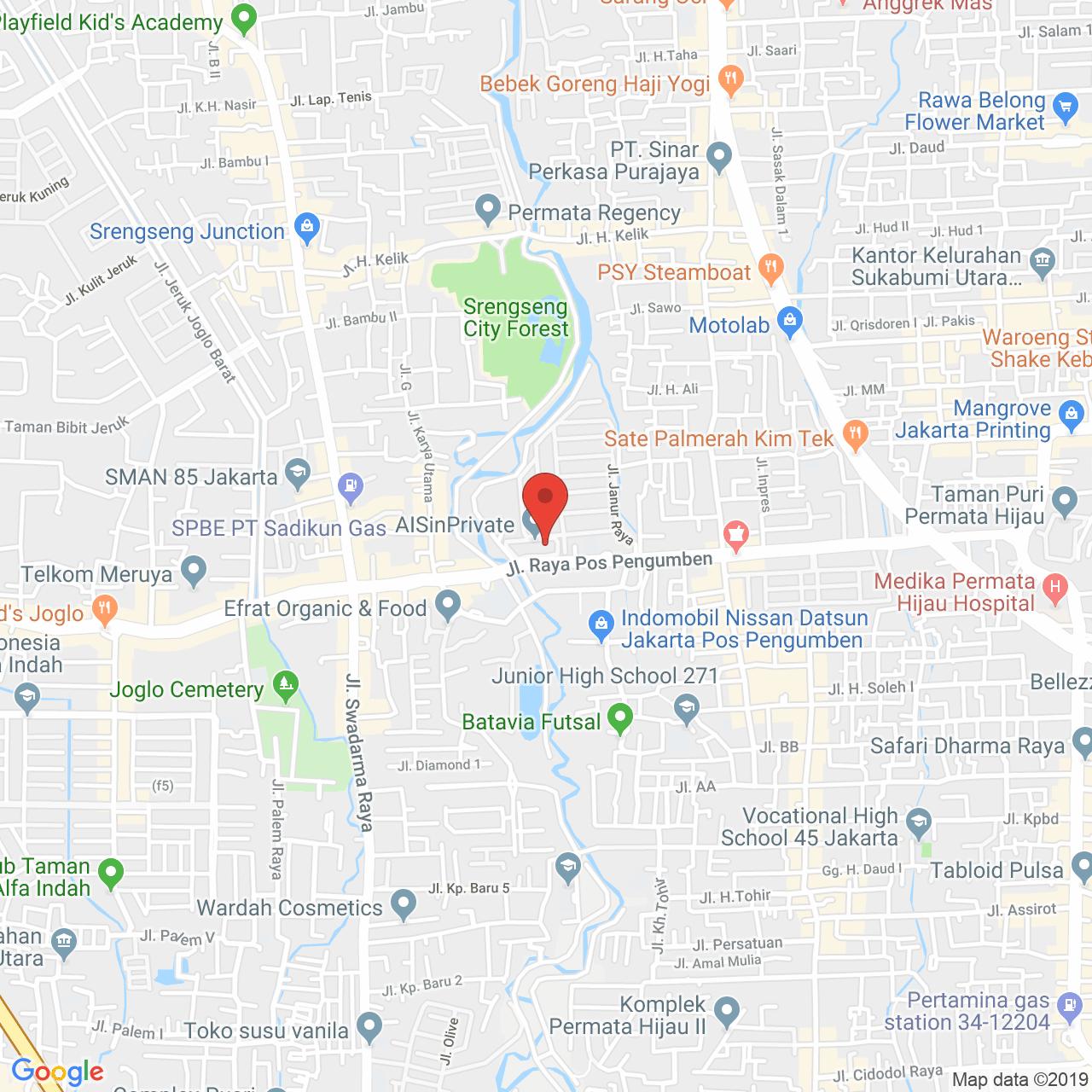 Permata Eksekutif Apartment Map
