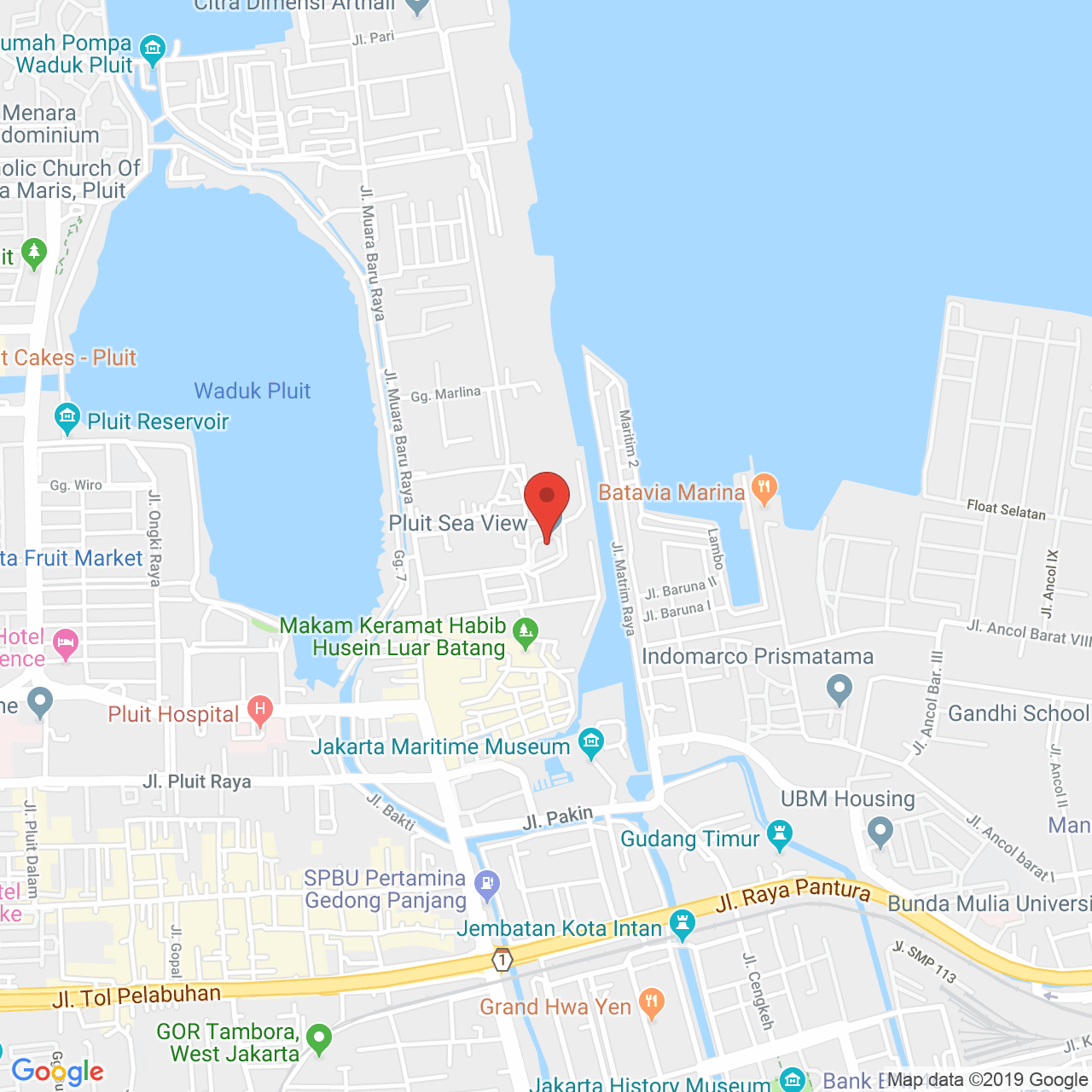 Pluit Sea View Map