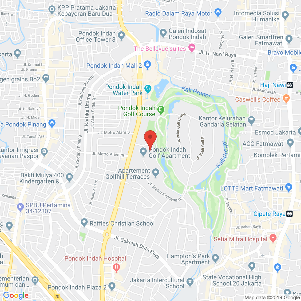 Pondok Indah Golf Apartment Map
