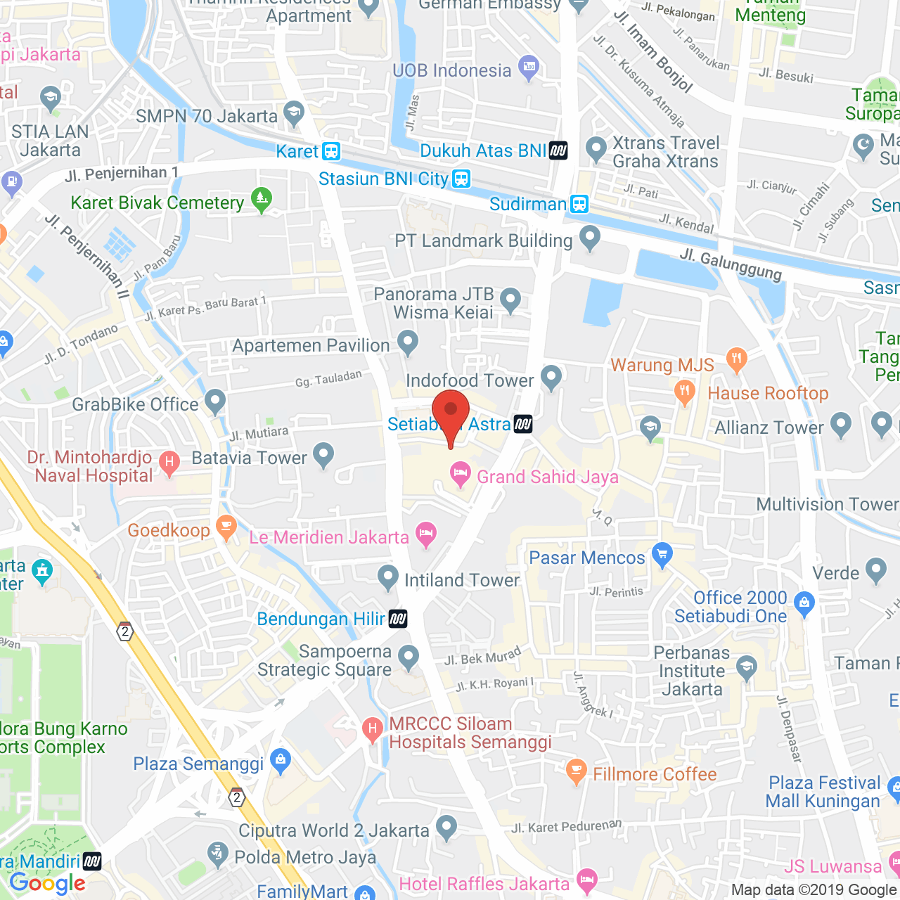 Apartment Rent Map: Sahid Sudirman Residence 2BR SSRC002 For Rent [With Pics]