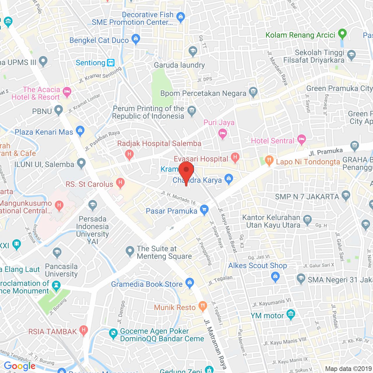 Salemba Residence Map