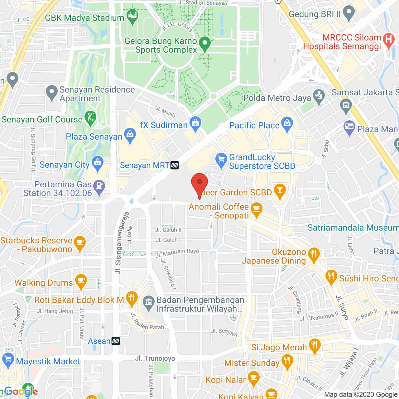 Senopati Penthouse Map