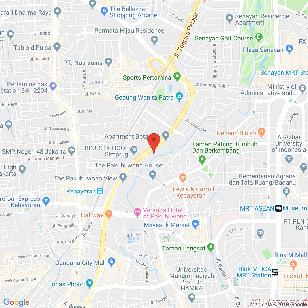 Simprug Indah Apartment Map