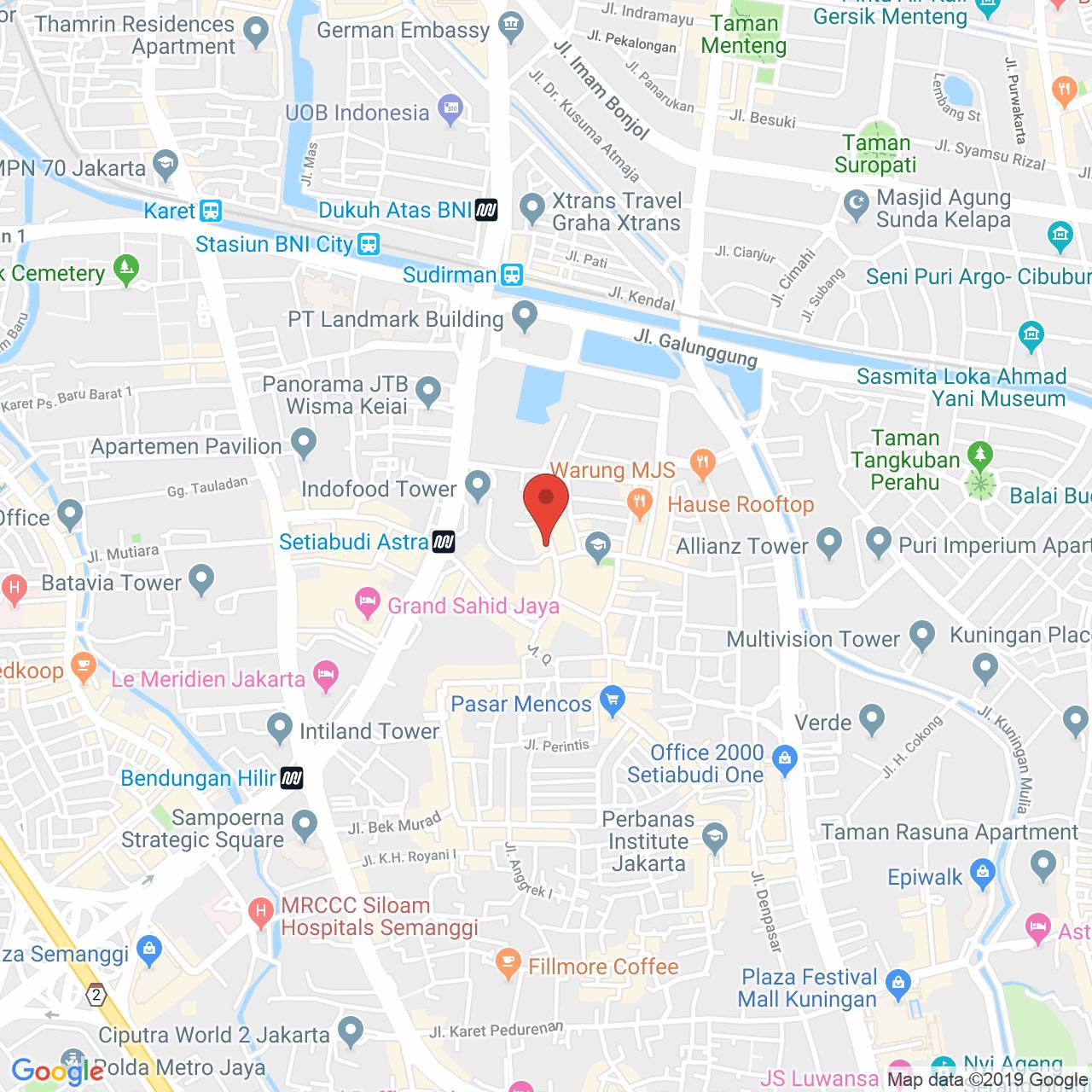 Sudirman Residence Map
