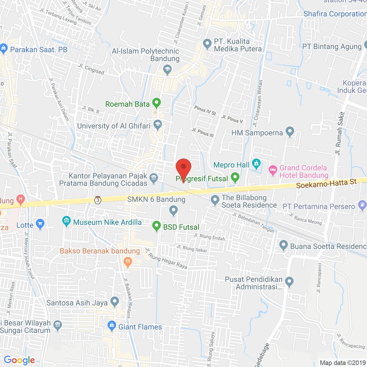 Tamansari Panoramic Apartment Map
