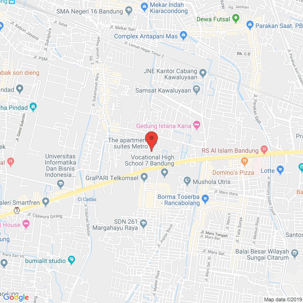 The Suites @ Metro Bandung Map