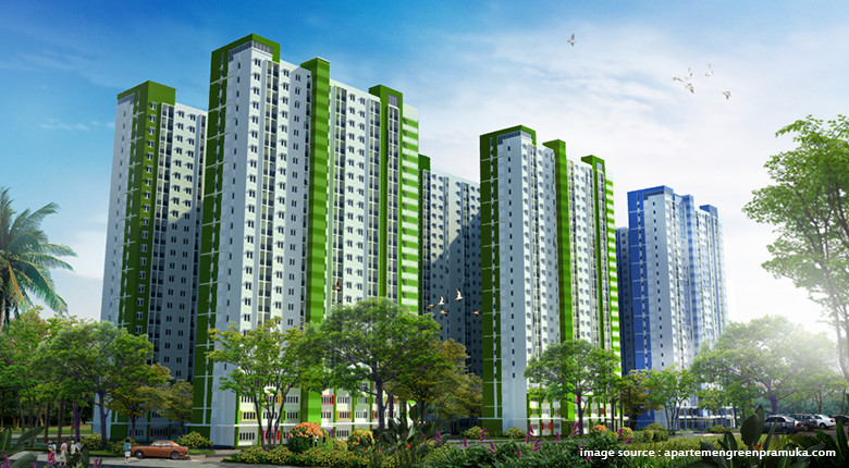 Hasil gambar untuk apartemen green pramuka