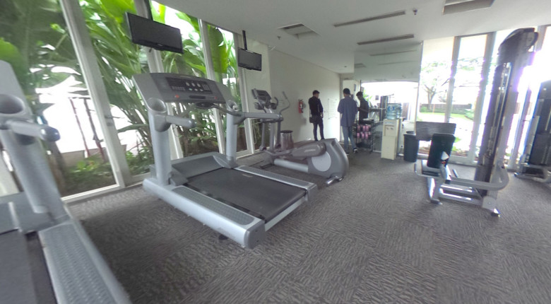 Fasilitas gym di Nirvana Apartment