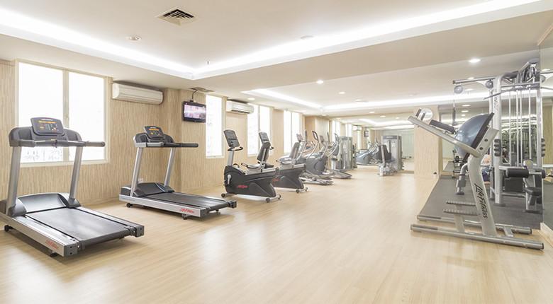 fasilitas gym di gading resort residence
