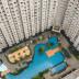 kolam renang view di royal medit garden residence