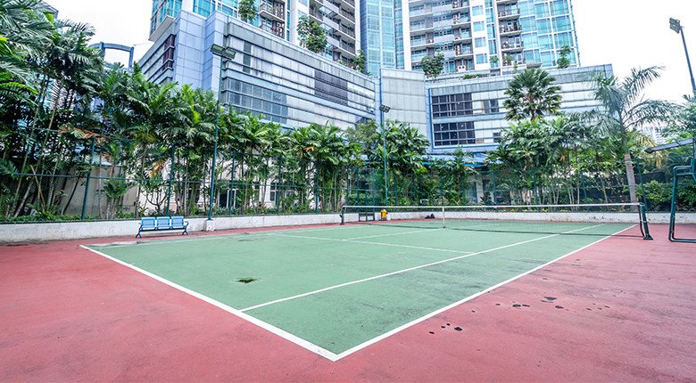 fasilitas lapangan tennis the bellagio residence