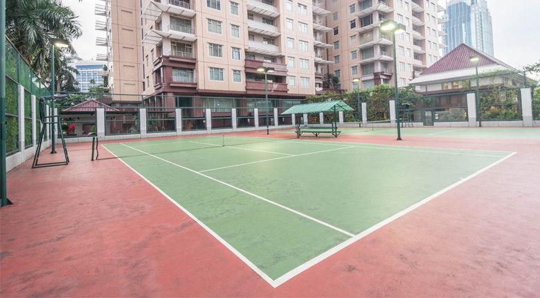 Lapangan tenis 2 di Istana Sahid
