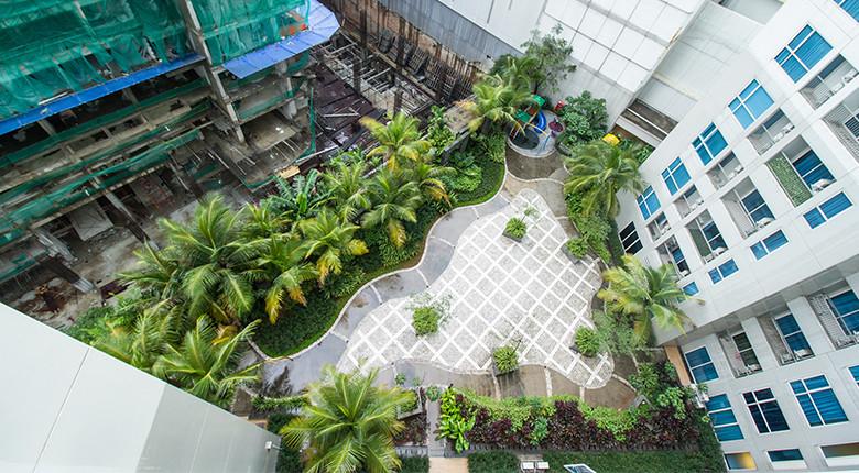 view dari apartemen casa grande