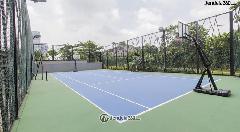 lapangan basket dan volley di apartemen lavenue