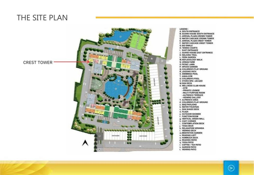 site plan the crest west vista