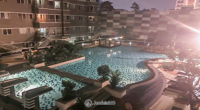 balcony Sudirman Park Apartment Apartment