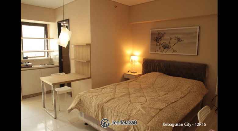 bedroom Kebagusan City Apartment Studio Fully Furnished Apartment