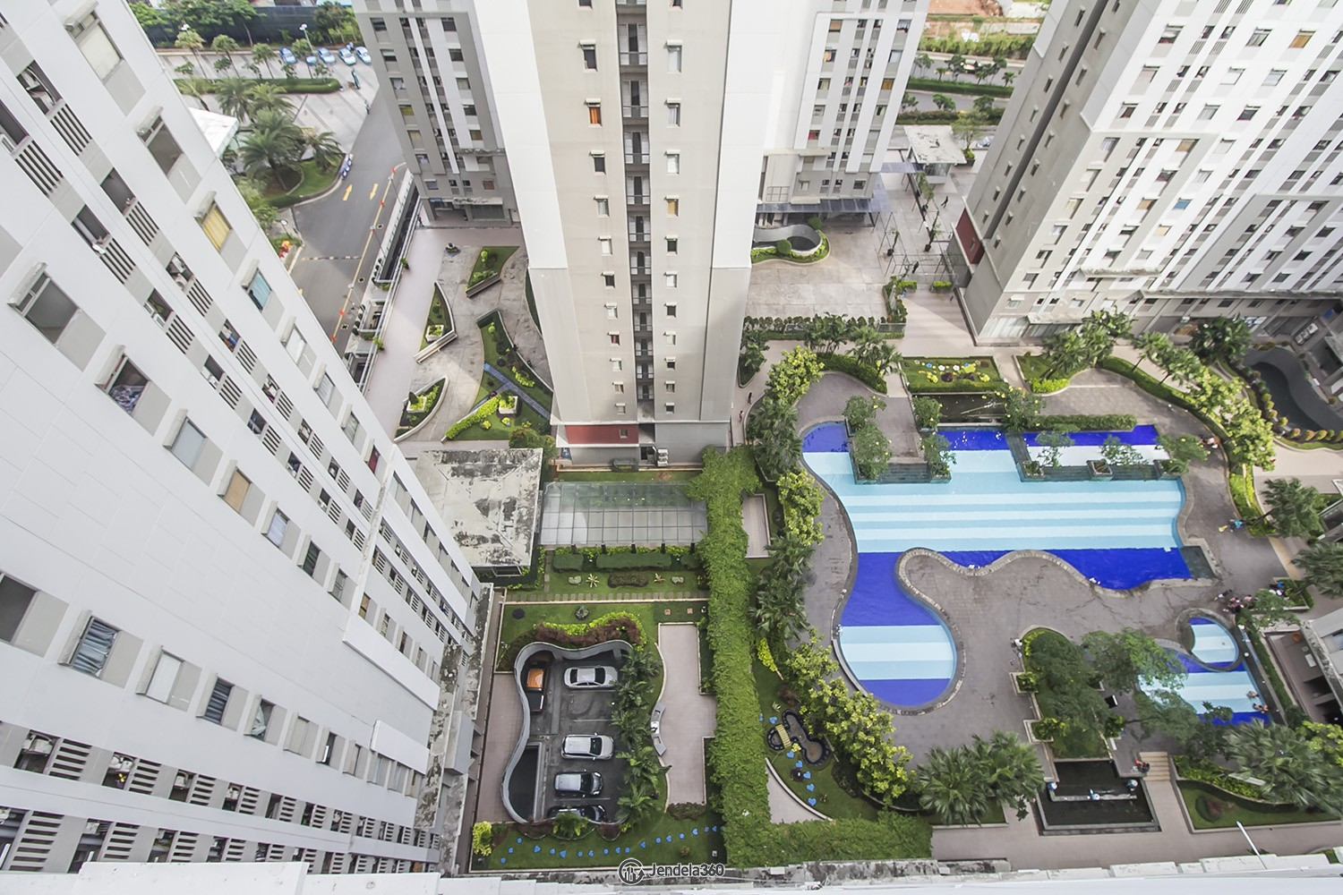 Bottom View Green Bay Pluit Apartment