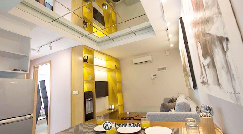 Dining room Apartemen The Mansion Kemayoran Bougenville