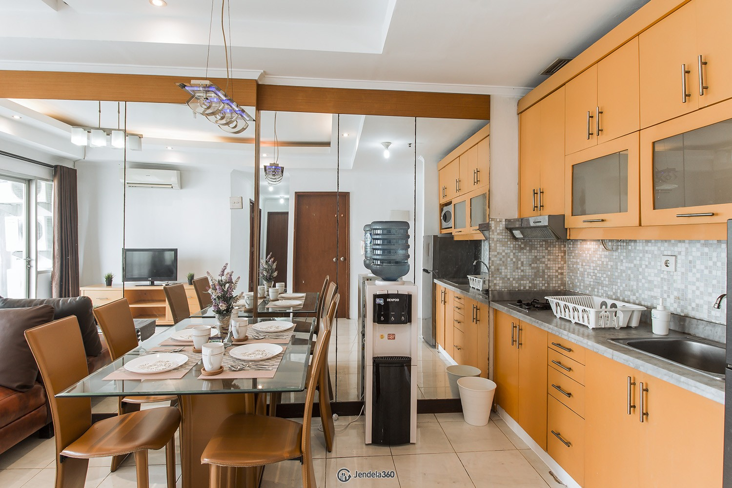 Kitchen Sudirman Park Apartment Apartment