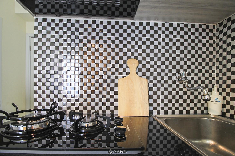 Kitchen Green Pramuka City Apartment Apartment