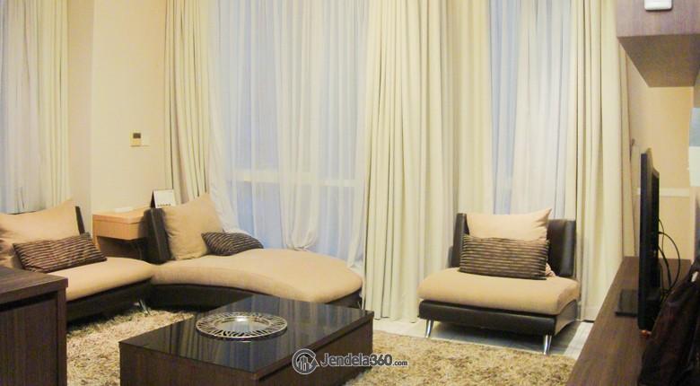 Living Room Apartemen The Peak Apartment
