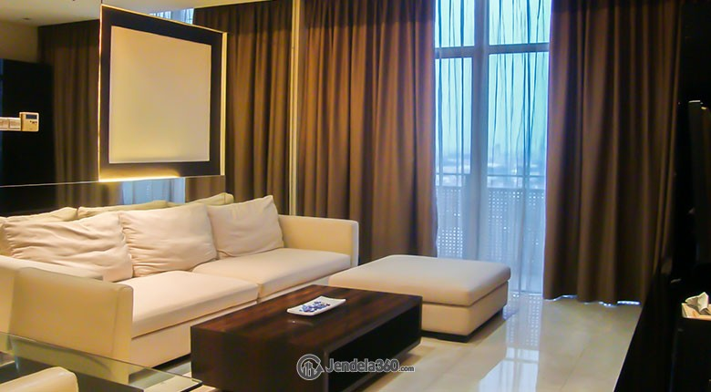 Living Room Apartemen The Summit Apartment