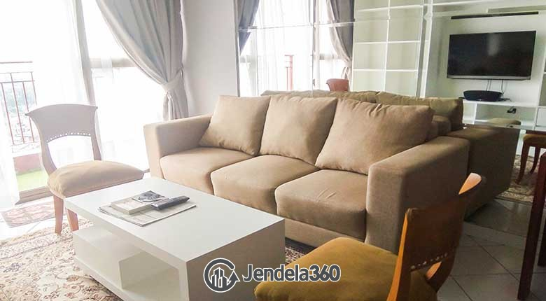 Living Room Apartemen Taman Rasuna Apartment