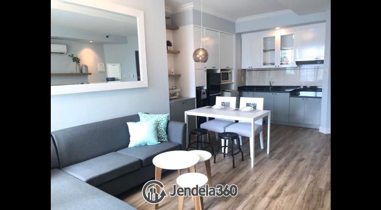 Living Room Apartemen Batavia Apartment 1BR Fully Furnished
