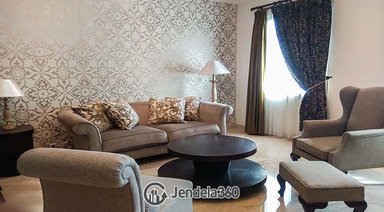 Living Room Apartemen Belleza Apartment 3BR Fully Furnished