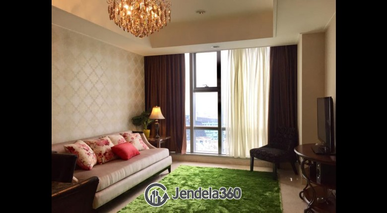 Living Room Ascott Kuningan Jakarta 2BR Fully Furnished Apartment