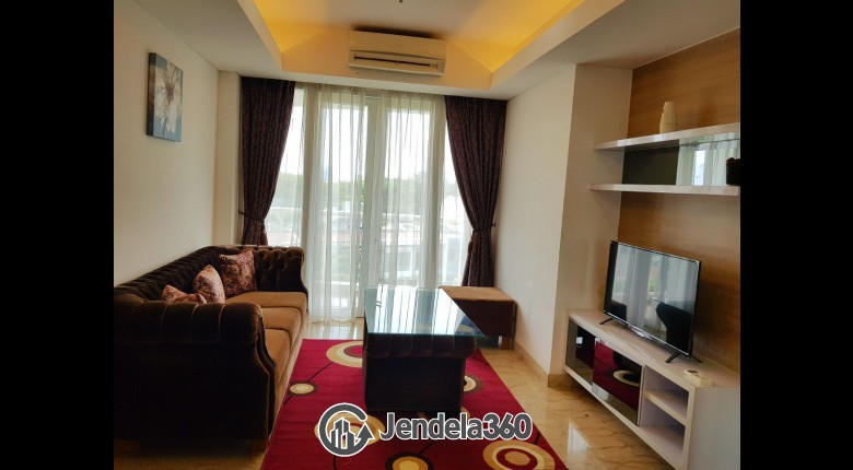 Living Room Apartemen Royale SpringHill Residence 1BR Fully Furnished