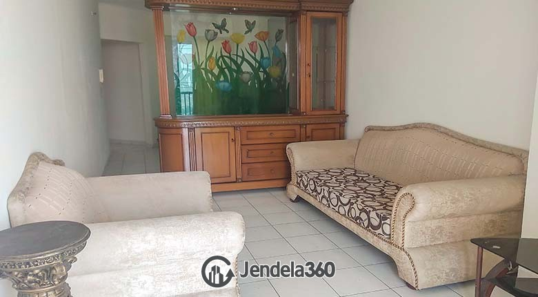 Living Room Apartemen Graha Cempaka Apartment 3BR Fully Furnished