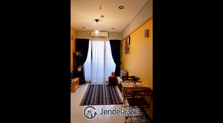 Living Room Sentra Timur Residence 1BR Fully Furnished Apartment