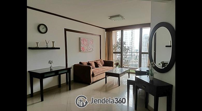 Living Room Taman Rasuna Apartment 2BR Fully Furnished Apartment