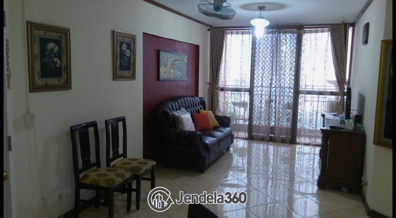 Living Room Apartemen Taman Rasuna Apartment 2BR Fully Furnished