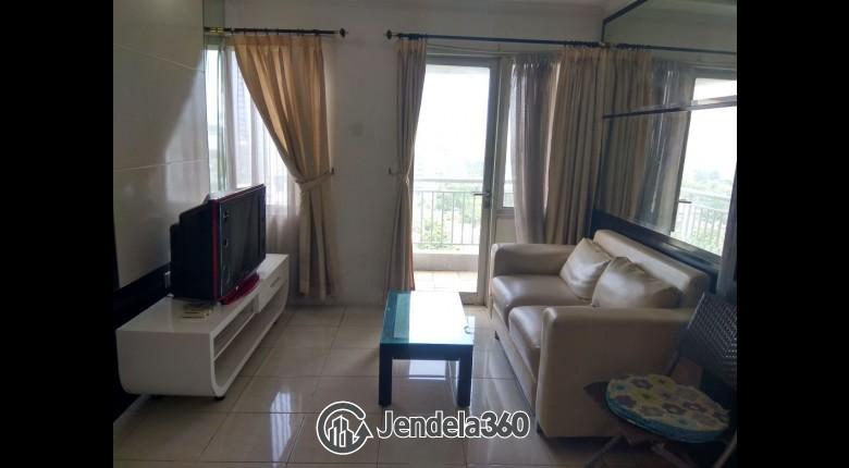 Living Room Apartemen Sudirman Park Apartment 1BR Fully Furnished